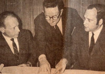 Ted Cromack, Dean Rowe, and Rev. Park Dickerson — with Ted Cromack.