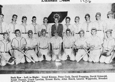 BOYS BASEBALL 1956