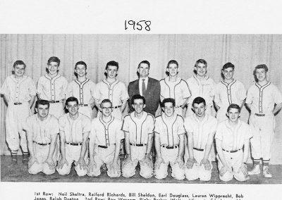 BOYS BASEBALL 1958