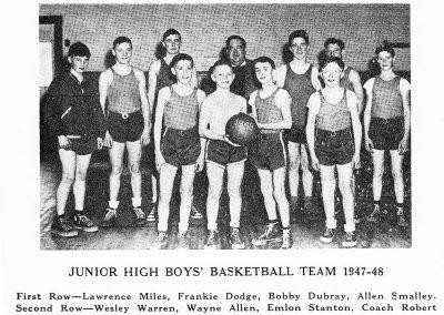 BOYS BASKETBALL 1947-48