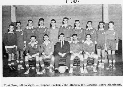 BOYS SOCCER 1961