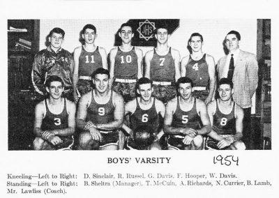 BOYS VARSITY 1954