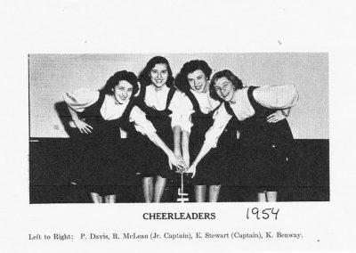 CHEERLEADERS 1954