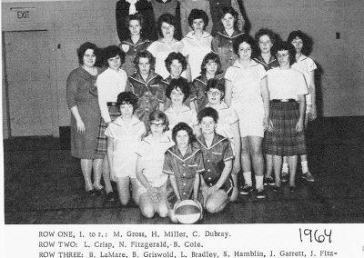 GIRLS ATHLETICS 1964