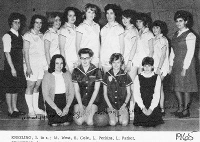 GIRLS ATHLETICS 1965