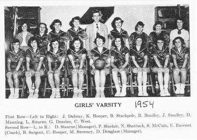 GIRS VARSITY 1954