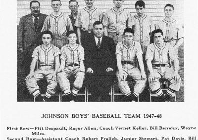 JOHNSON BOYS BASEBALL 1947-48