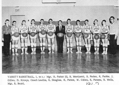 VARSITY BASKETBALL 1962
